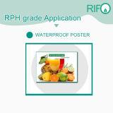 Color blanco de PP resistente a la humedad con papel sintético RoHS MSDS