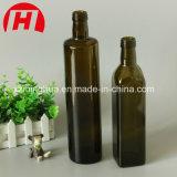 Bernsteinfarbige Glasolivenöl-Flasche mit Schutzkappen