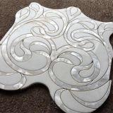 Mattonelle bianche e nere di Watterjet di marmo di mosaico