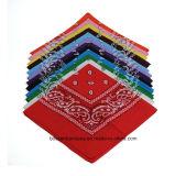 OEMの農産物はロゴによって綿のペーズリーの印刷された昇進のバンダナHeadwrapをカスタマイズした
