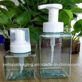 Quadratische Flaschen-Plastikflasche für Gesichtsreinigungs-Schaumgummi