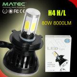Пара H4 80W 8000лм LED ламп фар автомобиля Лампа фары принадлежности с внутренней шины Can