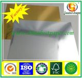 Silberne Papp-/Rohpapierduplexvorstand-Graurückseite