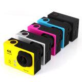 câmera remota do esporte de WiFi do estilo do herói 4 de Gopro do controlador de 4k Ultra-HD Kamera Akcja 2.4G