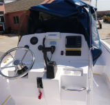 24ft 7,2 barco de pesca de la consola central de fibra de vidrio