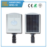 Hot Sales 10W Solar Street LED Light de l'usine chinoise (HFK5-10)