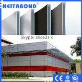 PVDF que reveste o revestimento composto de alumínio dos materiais da parede do uso exterior