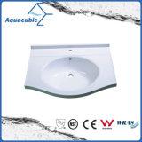 Bacia de lavagem branca de Luxry Polymarble