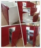 MDFのカスタマイズされる白い現代食器棚