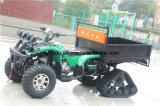 Big Storage Green Black Farm ATV com Snow Tire