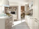 American Style Mobiliario de cocina blanca de madera sólida del gabinete de cocina