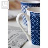 Кружка кофеего кружки чая фарфора фабрики Китая цвета ви-образност голубая