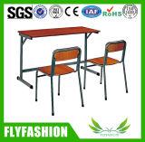 セットされる安い価格の学校の倍の机および椅子(SF-10D)