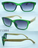 F15004 Soem Bamboo Arms Sun Glasses mit Polarised Lens