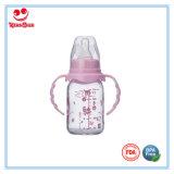 la bottiglia di bambino di vetro diritta 240ml con BPA libera il capezzolo