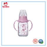 führende Flasche des geraden Glasbaby-240ml mit BPA frei Nippel
