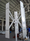 Turbina de viento vertical sola del eje de la turbina 1500W de Maglev del soporte pequeña