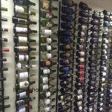 Personalizado inoxidável pendurado metal parede parede de rack rack de vinho
