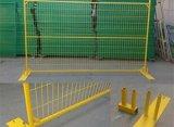 Загородка PVC покрытая временно с отверстием сетки 75X100mm и желтым цветом для Канада