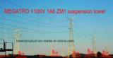 Torretta della sospensione di Megatro 110kv 1A6 Zm1