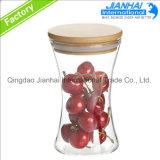 Förderung-rundes Glasglas für Nahrungsmittelspeicher