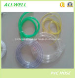 Le PVC souple en plastique transparent au niveau du tuyau flexible de l'eau