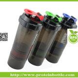 丸薬容器が付いている新しい特許を取られた700ml蛋白質のシェーカーのコップ