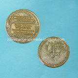 Монетка подарка промотирования при покрынное золото