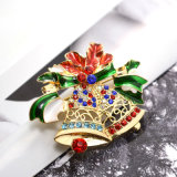 Juwelen van de Manier van de Broches van de Klokken van Kerstmis van het Bergkristal van het Kristal van het email de Grote
