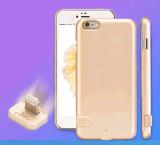 Caja de batería recargable sin hilos de TPU+PC para el caso de la carga de batería de la batería de la potencia de la alta calidad del teléfono móvil de Dongguan