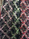 Tessuto del merletto del fiore del ricamo del Rhombus di modo per Dress della signora