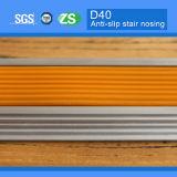 Flair d'escaliers stratifié par bande en aluminium antidérapage de bandes rebord de construction