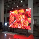 P7.62 Color interior etapa LED Display con carcasa de aluminio