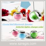 Портативный творческий миниый кристаллический диктор шарика СИД беспроволочный Bluetooth