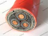 силовой кабель изоляции Swa XLPE панцыря провода 8.7/15kv Yjv32 3*50mm стальной обшитый PVC подземный