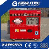 Générateur 5000W diesel silencieux portatif de longue durée refroidi par air (DG6700SLE)