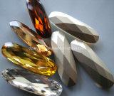 Stenen van het Glas van het Kristal van de Vorm van Waterdrop van de manier de Machinaal gesneden