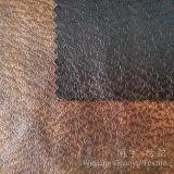 Het ImitatiedieSuède van de Stof van het Leer van de polyester voor Decoratieve Dekking wordt gebronst