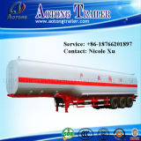 3車軸30t Flammable Liquid Fuel Oil Chemical Tank Semi Truck Trailer (50m³) (LAT9402GRY)
