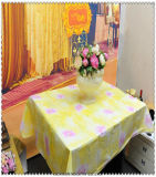 De afgedrukte Beschikbare In het groot Broodjes van het Tafelkleed van pvc van het Huwelijk van het Tafelkleed Plastic