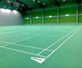 O PVC da alta qualidade do certificado de Bwf ostenta o revestimento para a espessura da corte de Badminton 4.5mm/5mm