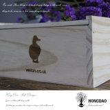 Hongdao 주문 최신 각인된 로고 나무로 되는 선물 수송용 포장 상자 Wholesale_F