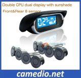 Os sensores de estacionamento LCD automóvel Smart sistema de ajudas de marcha com 8 sensores dianteiro e traseiro