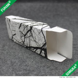 Cadre de empaquetage de carton blanc cuboïde de texture