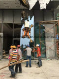 Vidrio de elevación de elevación certificado Ce del vacío de la robusteza que dirige 400kg