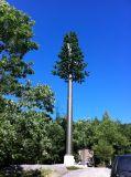 Стальные трубы сотового сигнала защитного цвета дерева в корпусе Tower
