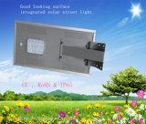 luz de rua solar Integrated solar toda do diodo emissor de luz 15W em uma luz solar solar da lâmpada do diodo emissor de luz da luz de rua da lâmpada do diodo emissor de luz com painel solar