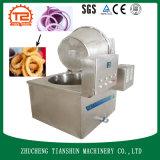 Alimento eléctrico de la cebolla de la sartén con mucha grasa que fríe la fuente de la fábrica del equipo de la cocina