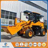 中国の小型ローダー1200 Kgのフロント・エンドローダーの車輪のローダーのZl 16の土工の機械装置の価格