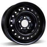 черная оправа колеса автомобиля 15X6